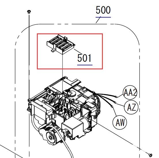 EPSON Pro 4900/SURECOLOR F2000/SC-P5000 CAP,HEAD,LARGE