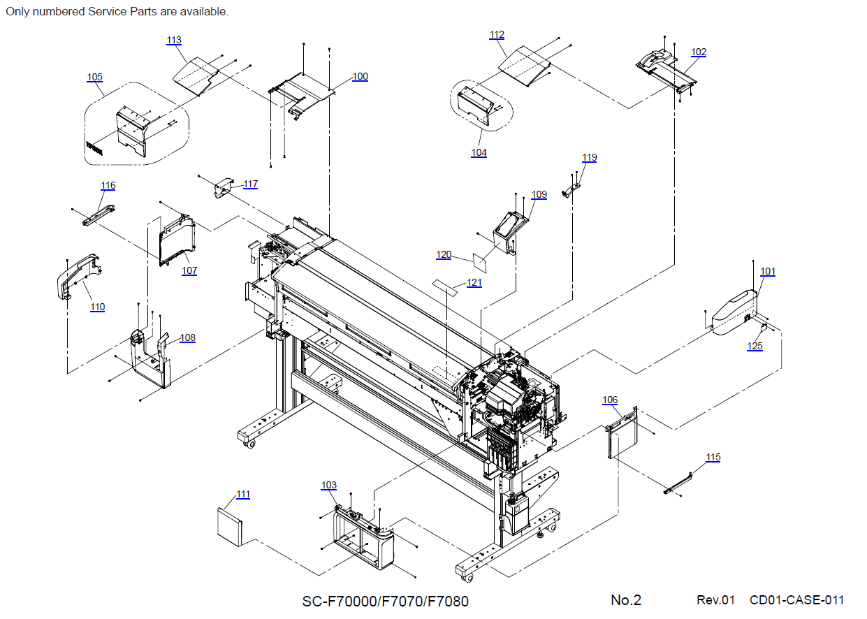 EPSON SureColor F7000 F7070 Parts Manual