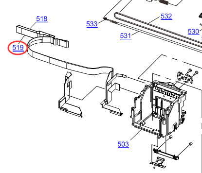 EPSON L100/L200/STYLUS SX130 FFC (CARRIER-MAIN) 21PIN