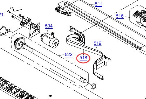 EPSONL110/L210/L300/L310/L350/L355/L365/L366 Head Cable
