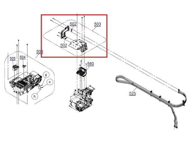 EPSON SC-T3000/T3200T5000 /T5200/T7000/T7200 DUCT ASSY.,CR