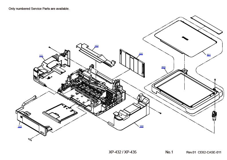 EPSON XP-432/XP-435 Parts Manual
