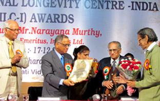'Jeevan Gaurav Puraskar' by International Logevity Centre, India.