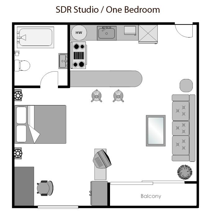 Small Studio Apartment Design Plans