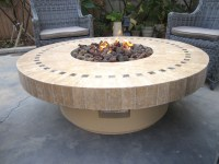 New Backyard Outdoor Gas Propane Fire Pit w/ Marble Mosaic ...