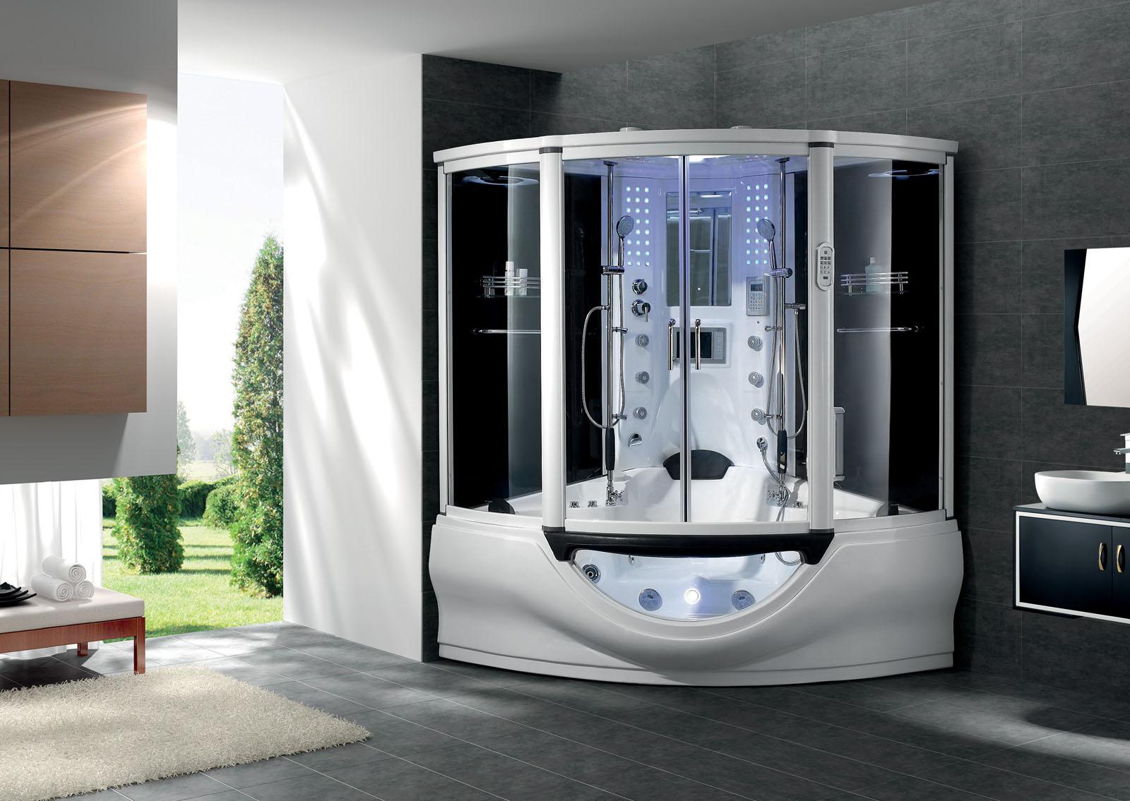 New 2012 Computerized Massage Jacuzzi Whirlpool Hot Tub Shower Steam Sauna SPA  eBay