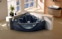 Black 2012 Computerized Whirlpool Jacuzzi Bath Hot Tub Spa