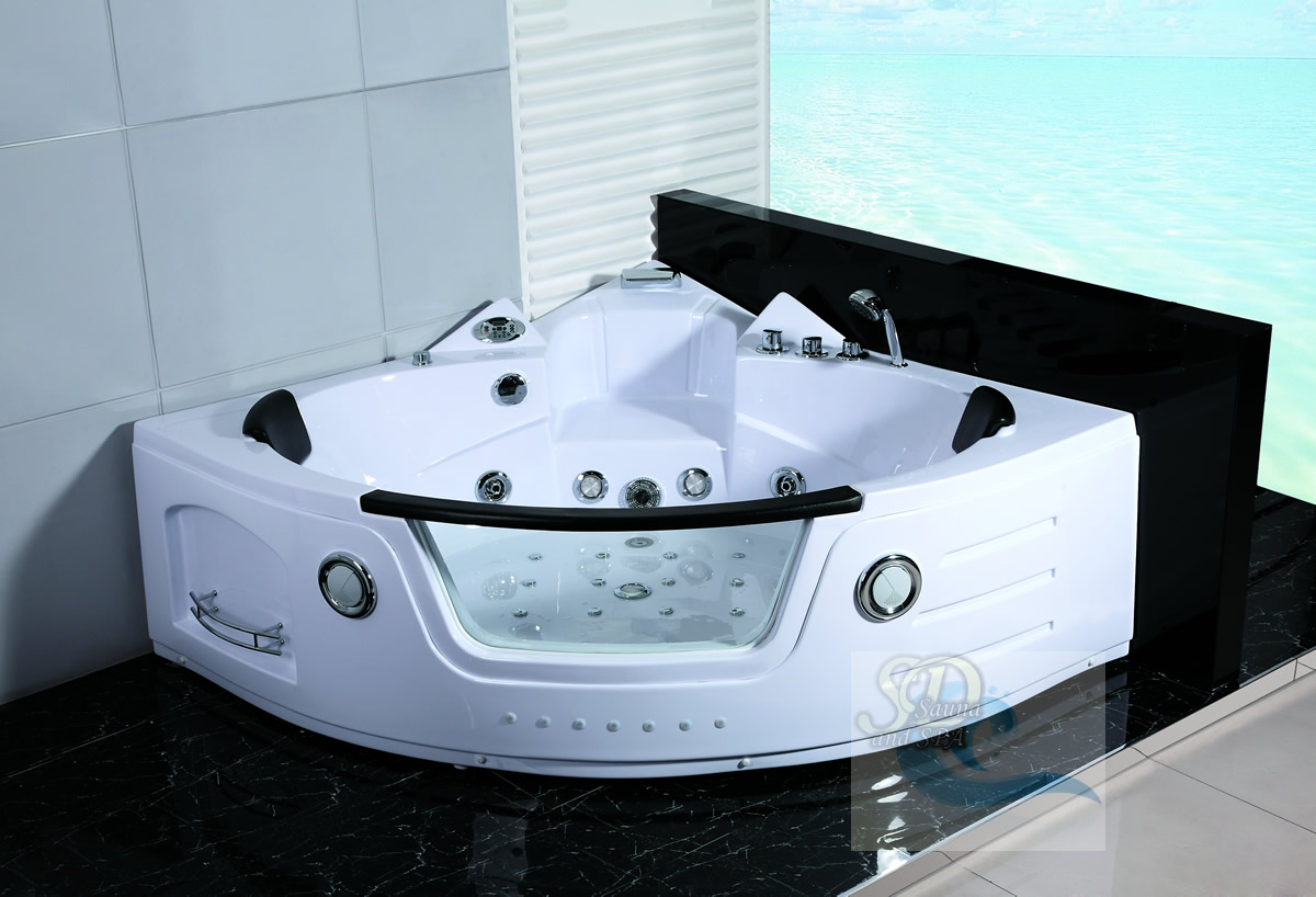 New 2 Person Jacuzzi Whirlpool Massage Hydrotherapy Bathtub Tub Indoor  White