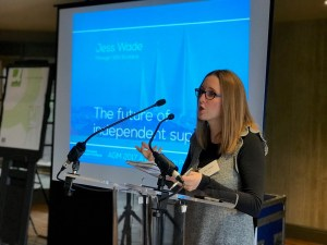 SDS SCotland Manager Jess Wade speaking at the AGM 2017