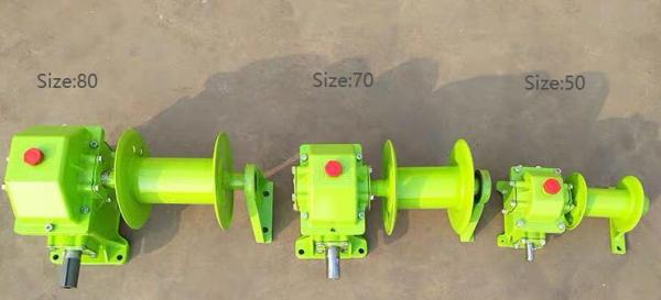 WD series worm gearbox with reel for grain elevator