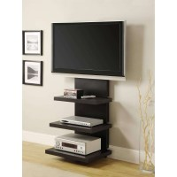 15 Photos Wall Mounted Tv Stands With Shelves