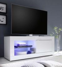 2018 Latest White High Gloss Corner Tv Stands