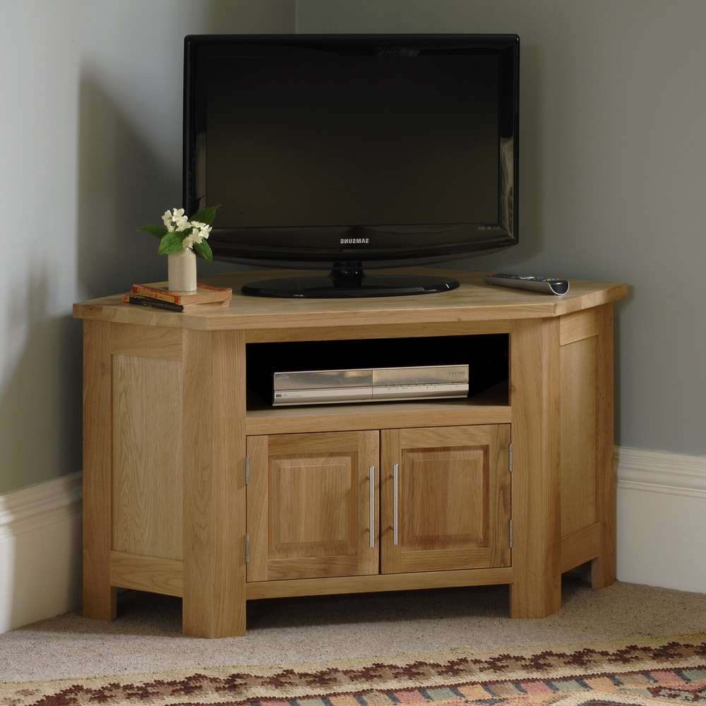 20 Collection of Solid Wood Corner Tv Stands
