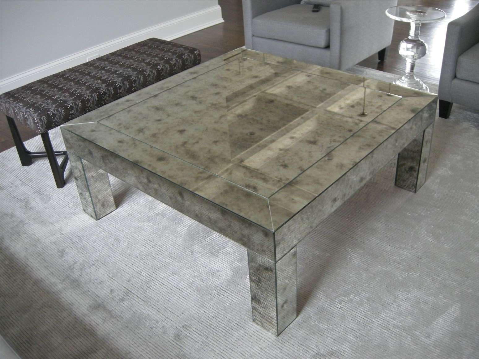 2018 Popular Antique Mirrored Coffee Tables