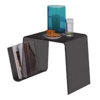 Acrylic Coffee Table With Magazine Rack - newlibrarygood.com