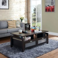 Dark Brown Coffee Table Set & Three Piece Coffee Table Set ...