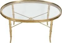 Gold Bamboo Glass Coffee Table - Rascalartsnyc