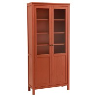 Hemnes Cabinet With Panel Glass Door White Stain - Glass ...
