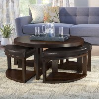 20 Best Collection of Coffee Tables With Nesting Stools