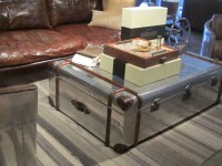 Metal Trunk Coffee Table - ideasplataforma.com