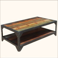 2018 Popular Rustic Coffee Tables With Bottom Shelf