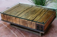 Photo Gallery of Reclaimed Wood And Glass Coffee Tables ...