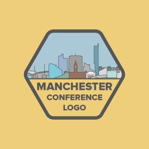 Manchester Conference logo design for sale