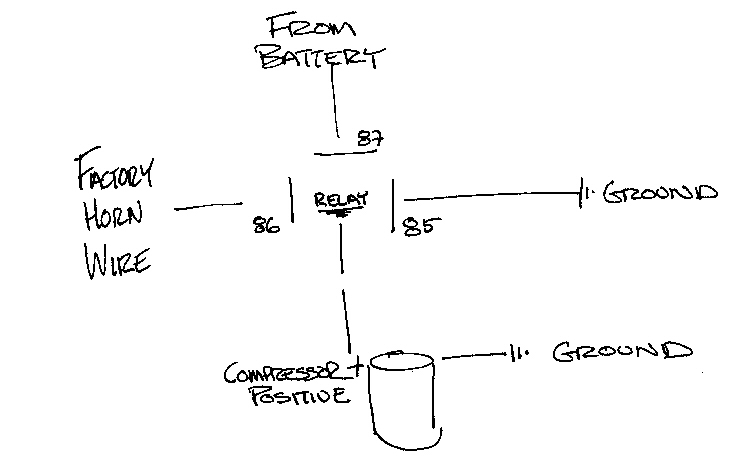 wiring diagram car horn