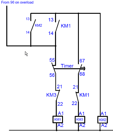 star delta starter control wiring diagram with explanation
