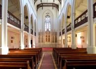 Church interior from central aisle groundfloor August 2018
