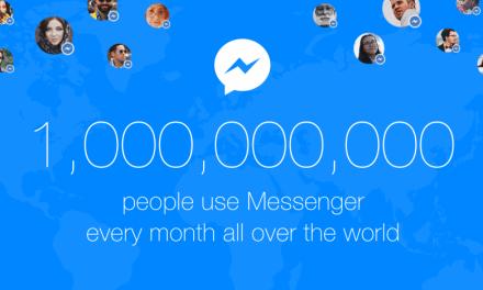 هدية شكر من FaceBook Messenger للوصول للمليار مستخدم يوميا