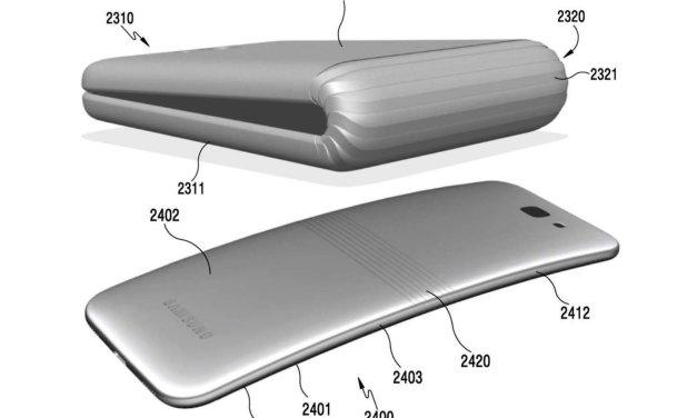 تسريبات.. #سامسونج تطور هاتف قابل للطي