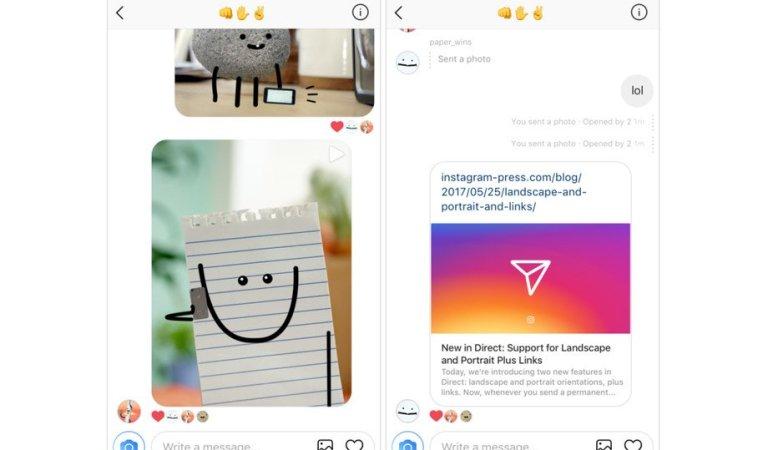 #إنستجرام يدعم إرسال الروابط في الرسائل المباشرة والتحكم في حجم الصور