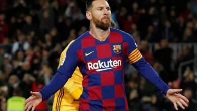 صورة ميسي خارج قائمة برشلونة امام انتر ميلان في دوري الأبطال