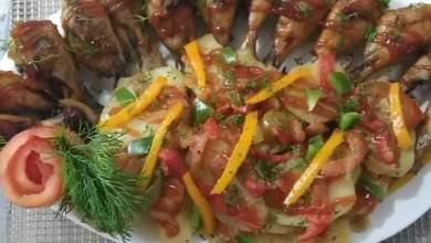 Photo of طاجن الأرز المعمر وصنية البطاطس مع دبابيس الدجاج المشوية