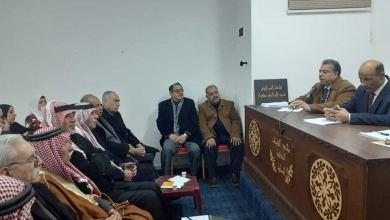 صورة الكلوب آمين عام اتحاد الأكاديميين والعلماء العرب في جلسة حوارية