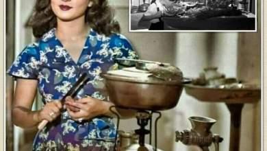 """صورة حقيقة صورة الفنانة """"شادية"""" في المطبخ"""