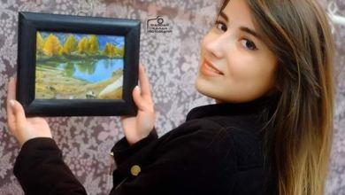 """صورة """"راما مهنا """"الفن هو شيء داخلي ..أحبُ رسم البورتريه  وأغلب لوحاتي التي أفضلها من الخيال والأساطير .."""