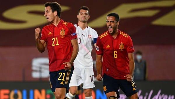 اسبانيا تهزم سويسرا بهدف وحيد.