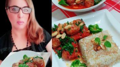 """صورة طبخات بنت الشام """"طريقة تحضير داوود باشا بالدجاج"""""""