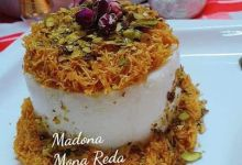 """صورة طبخات بنت الشام"""" تحضير قالب ليالي لبنان بالكنافة"""