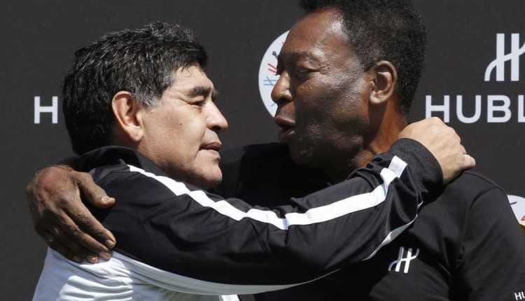 بيليه مخاطبًا الراحل مارادونا: سنلعب في فريقٌ واحد