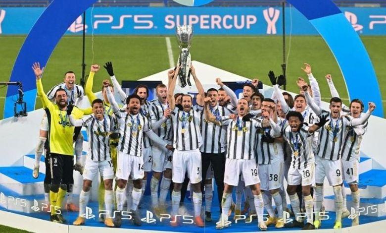 يوفنتوس يتوّج بلقب كأس السوبر الإيطالية
