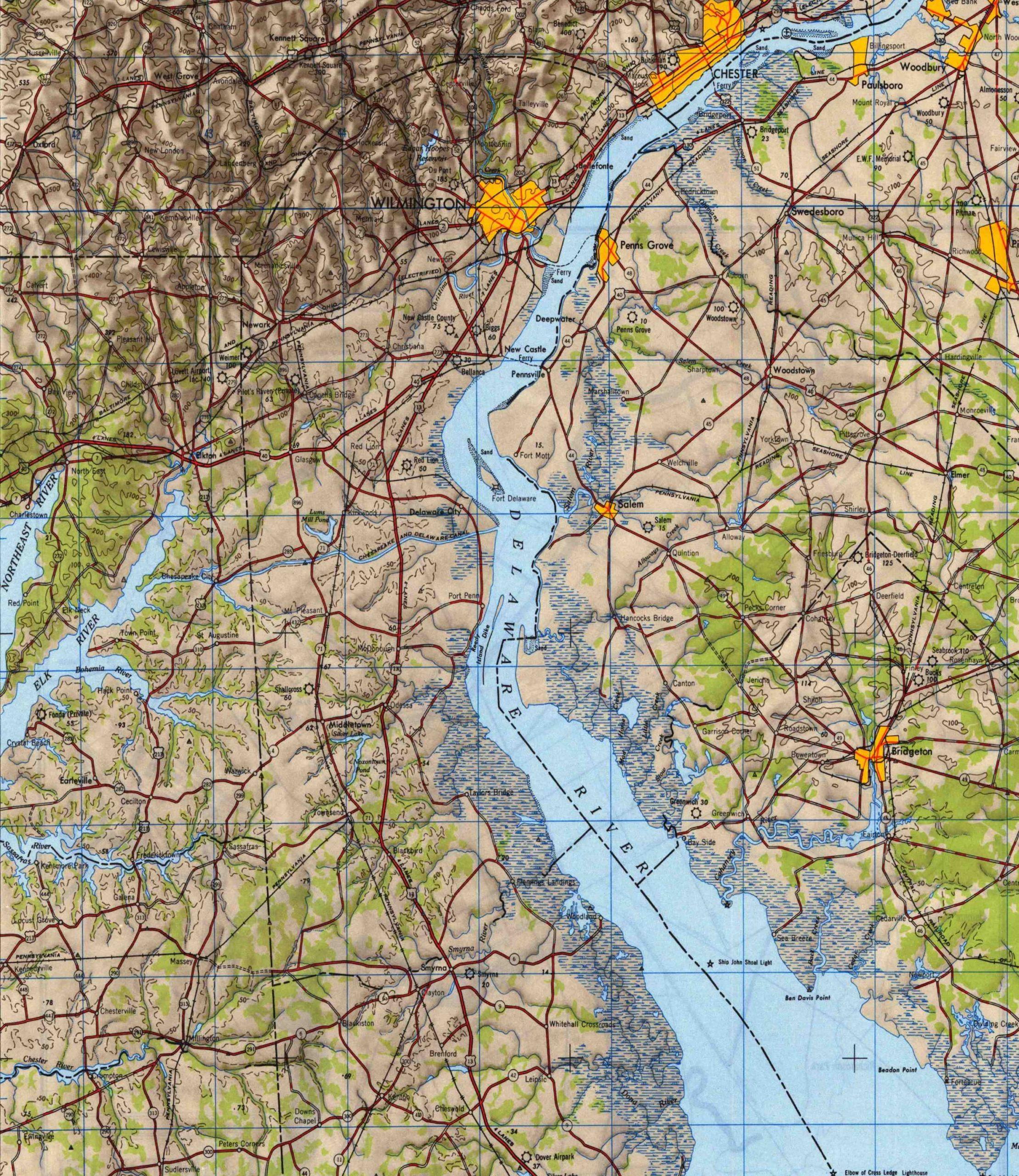 1946 Wilmington, DE and surroundings