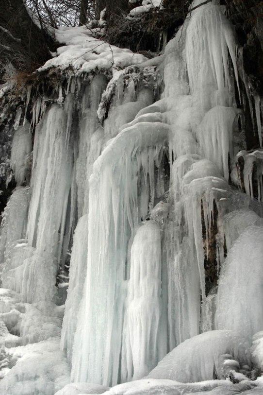 Frozen waterfall, Seward Highway, Alaska