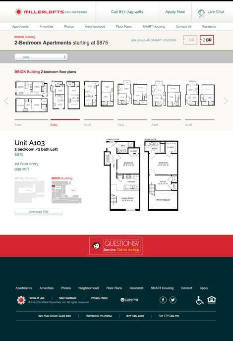 Miller Lofts Floor Plans