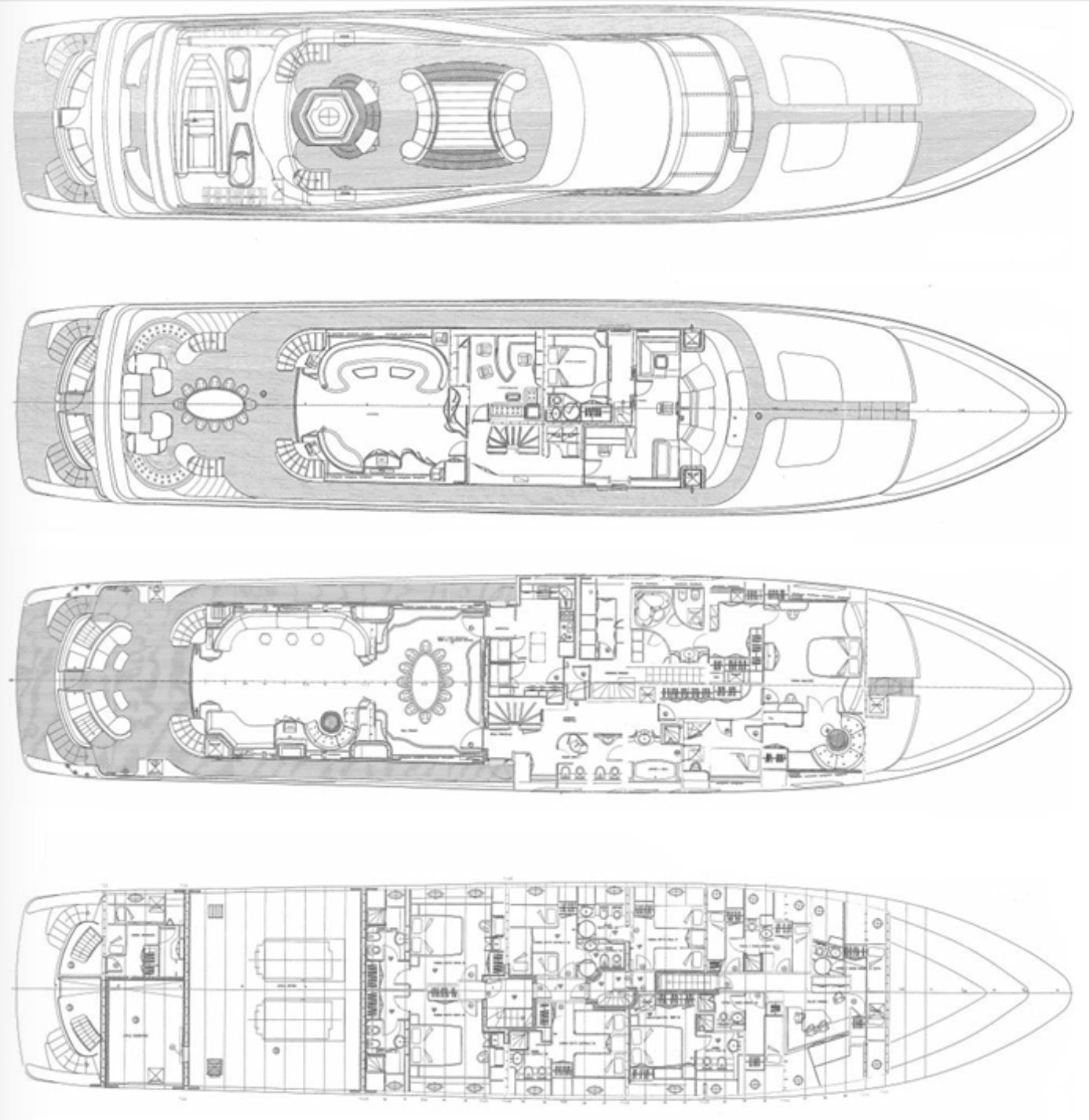140ft Tri-Deck Long Range Motoryacht with 8 Guest Cabins