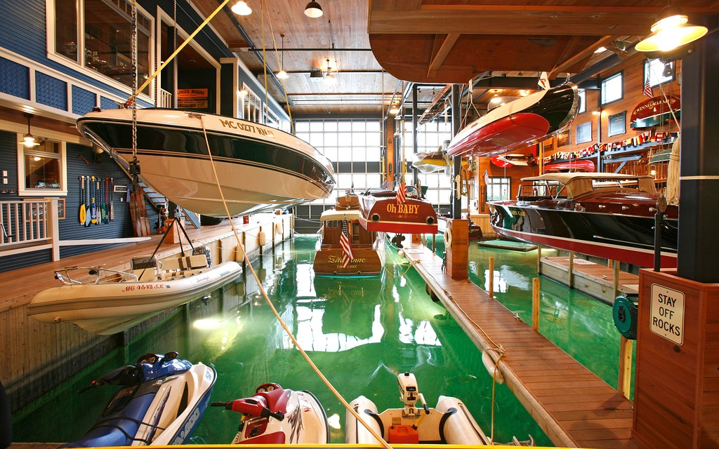 Look Inside A 10 Million Boat House And Lakeside Mansion
