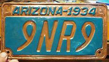 1934 Copper AZ license plate