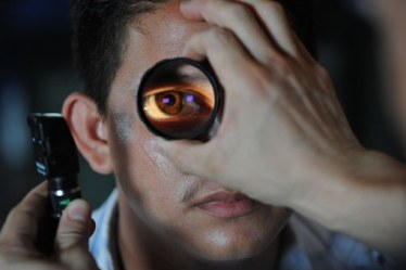 an optometrist